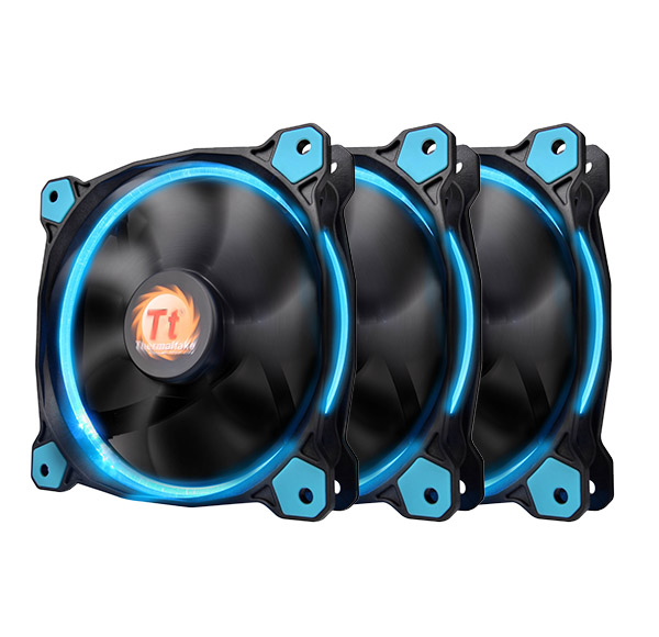 Cooler Thermaltake Riing 12 High Static Pressure 120mm Blue LED Three Fans Pack