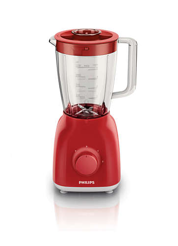Blender Philips Daily Collection HR2100/50 400W Rosu
