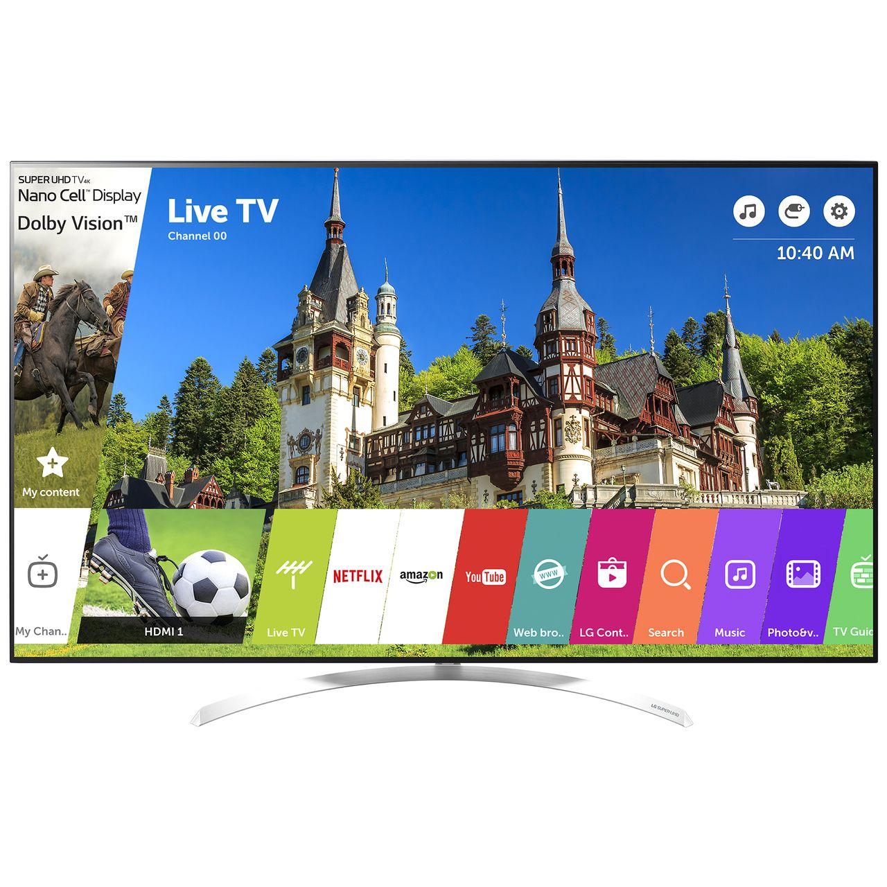 Televizor LED LG Smart TV 55SJ850V 139cm 4K Ultra HD Alb