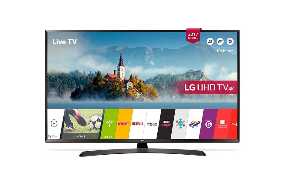 Televizor LED LG Smart TV 43UJ635V 109cm 4K Ultra HD Negru