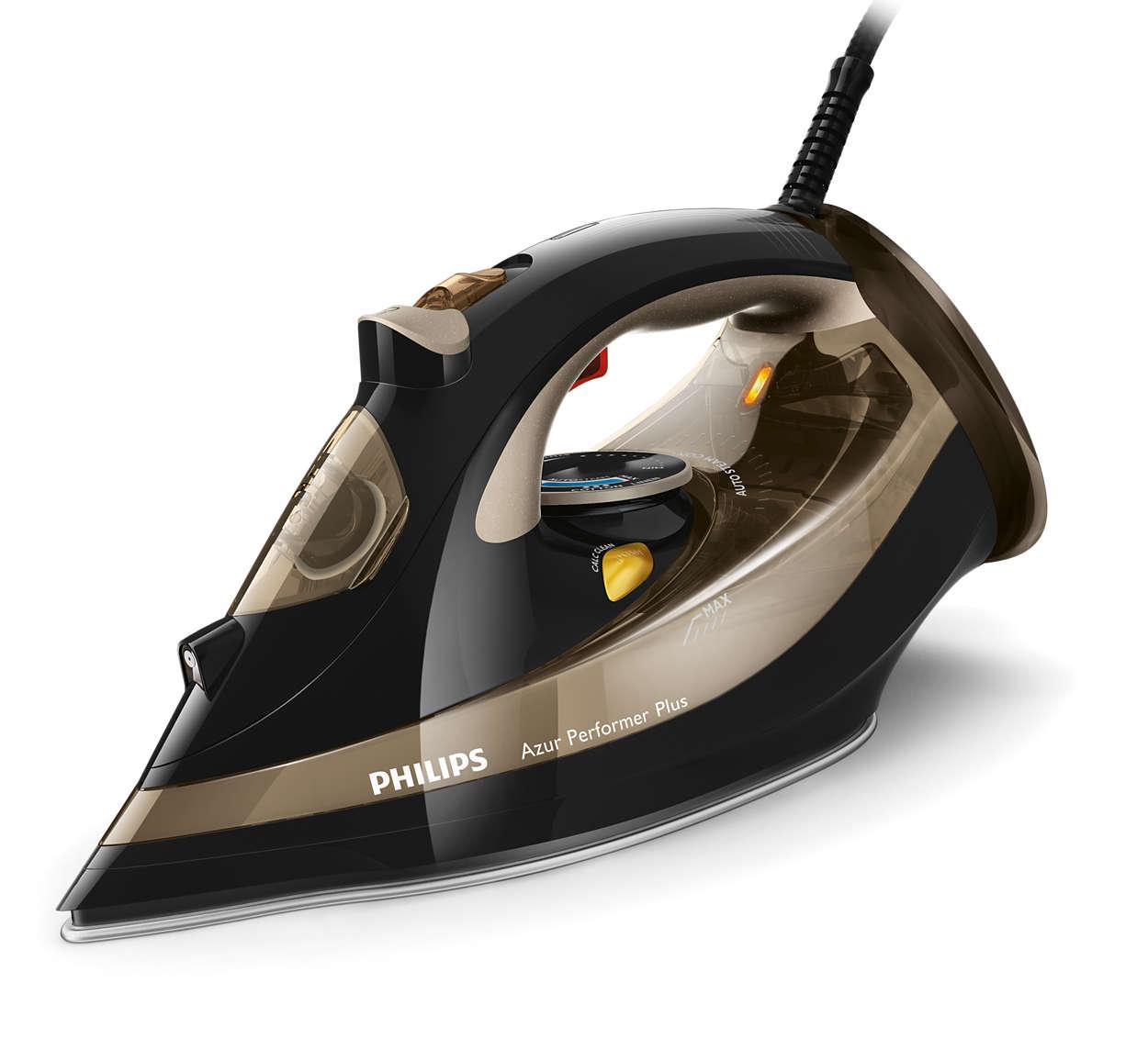 Fier de calcat Philips Azur Performer Plus GC4527 2600W Capacitate 300ml Negru/Auriu