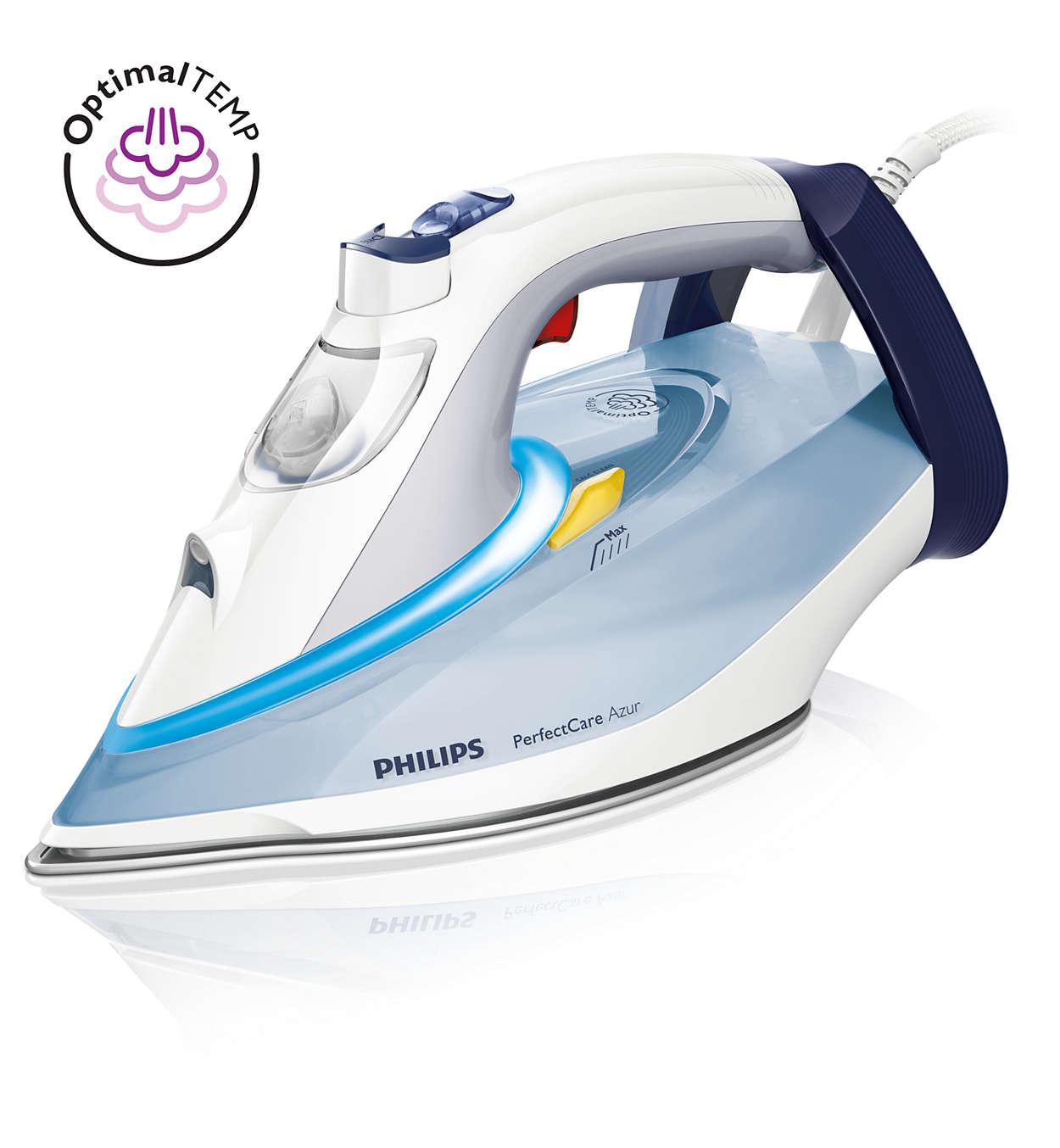 Fier de calcat Philips PerfectCare Azur GC4910/10 2400W Capacitate 350ml Alb/Bleu