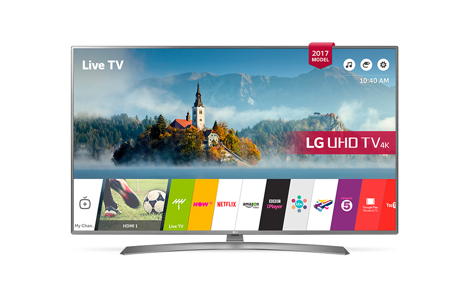 Televizor LED LG Smart TV 55UJ670V 139cm 4K Ultra HD Argintiu