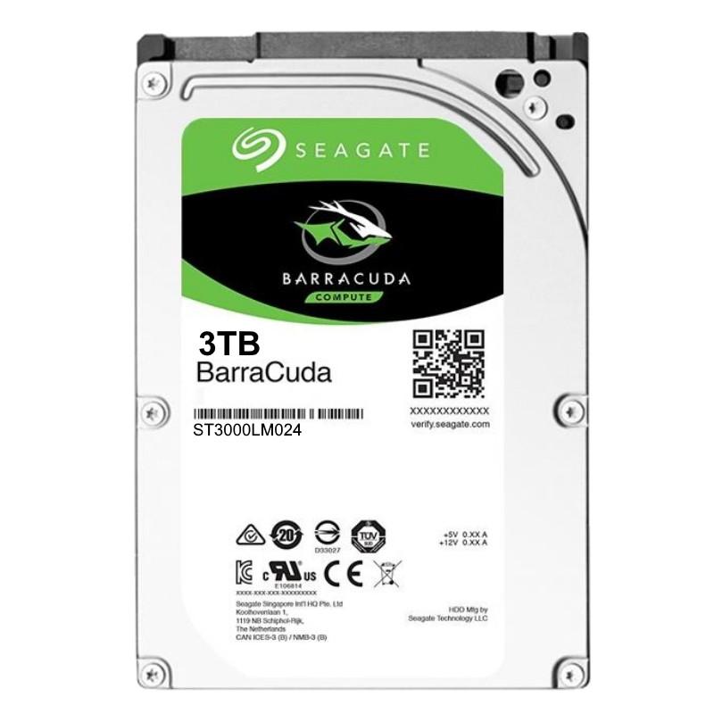 Hard Disk Notebook Seagate BarraCuda 3TB 5400RPM 128MB SATA III