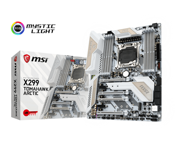 Placa de baza MSI X299 TOMAHAWK ARCTIC Socket 2066