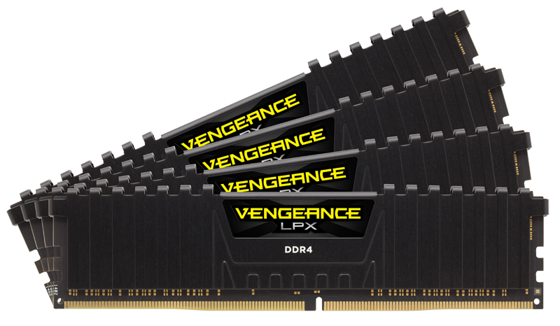 Memorie Desktop Corsair Vengeance LPX 16GB (4 x 4GB) DDR4 2133MHz Black CL13