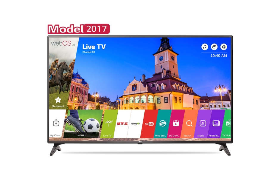Televizor LED LG Smart TV 43LJ614V 108cm Full HD Gri inchis