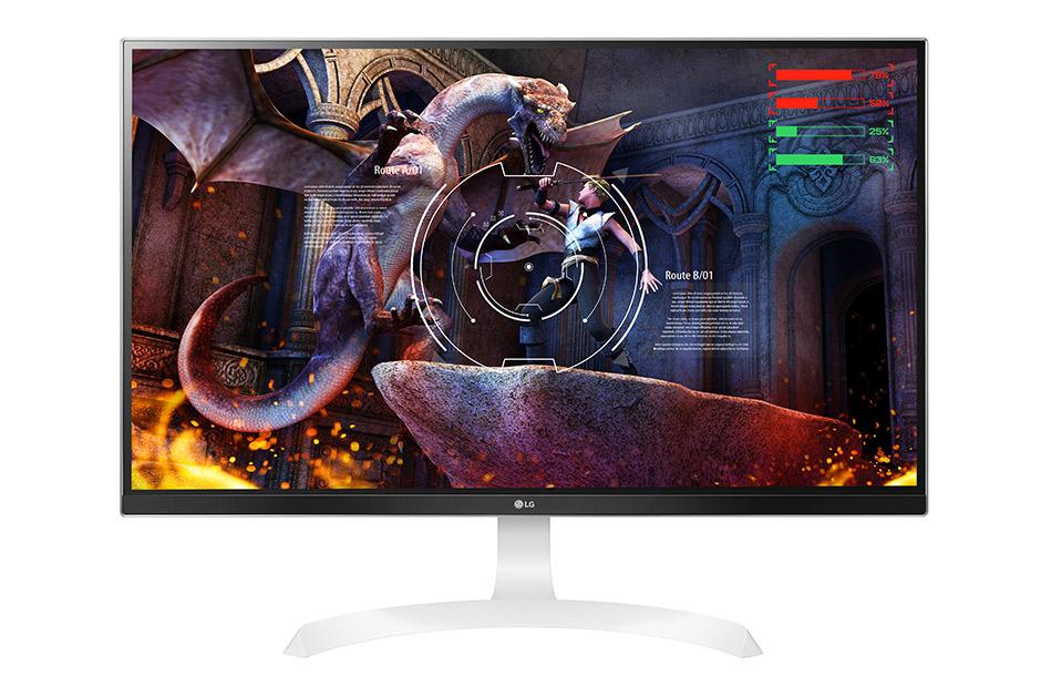 Monitor LED LG 27UD69-W 27 IPS 5ms 4K Ultra HD Alb