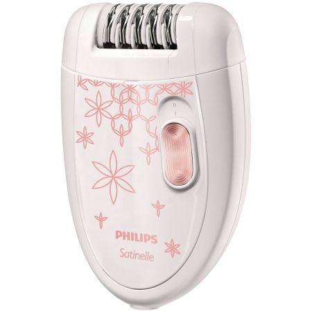 Epilator Philips Satinelle HP6420/00 Alb/Roz