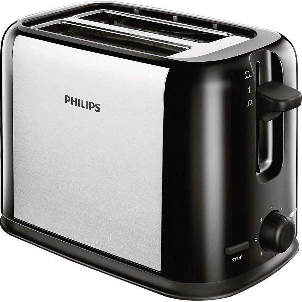 Prajitor de paine Philips Daily Collection HD2586/20 950W Negru/Argintiu