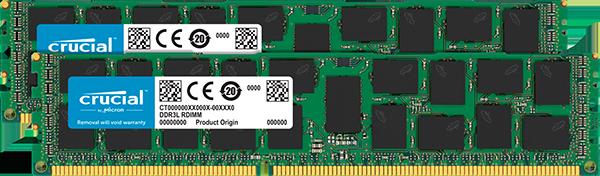 Memorie Server Micron Crucial CT2K16G3ERSDD4186D 32GB (2 x 16GB) DDR3 1866MHz