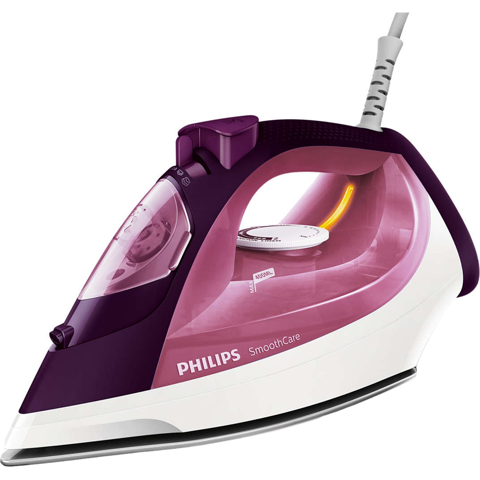 Fier de calcat Philips Smooth Care GC3581/30 2400W Capacitate 400ml Alb/Mov