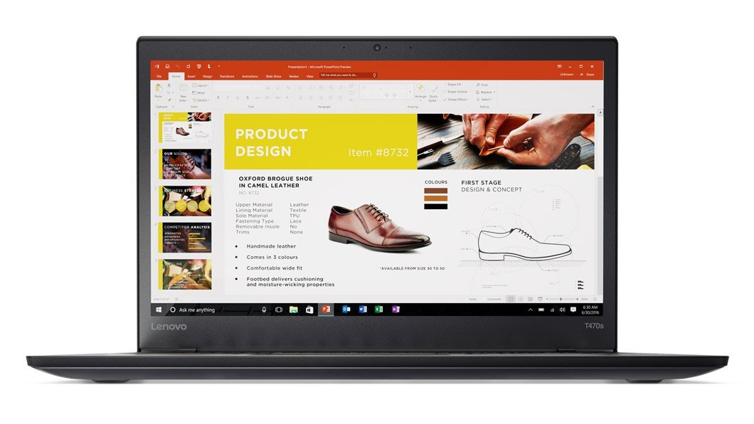Ultrabook Lenovo ThinkPad T470s 14 WQHD Intel Core i7-7500U RAM 24GB SSD 512GB 4G Windows 10 Pro Negru