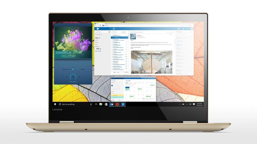 Notebook Lenovo IdeaPad 520S 14 HD Intel Core i3-7100U RAM 4GB HDD 1TB Windows 10 Home Auriu