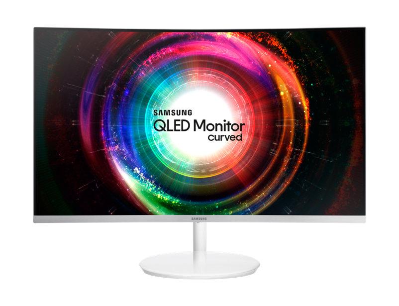 Monitor LED Samsung C32H711 31.5 Curbat WQHD 4ms Quantum Dot Alb