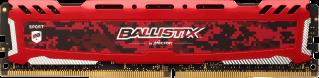 Memorie Desktop Micron Crucial Ballistix Sport LT Red 16GB DDR4 2400MHz