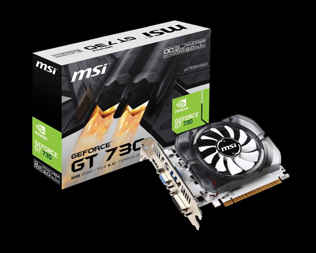 Placa Video MSI GeForce GT 730 OC V1 2GB DDR3 64 biti