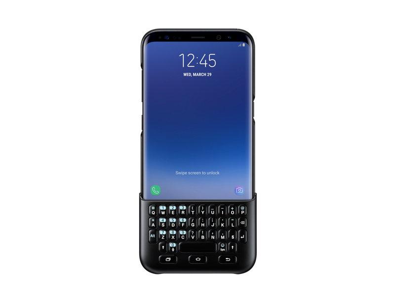 Husa cu tastatura QWERTY Samsung EJ-CG955 pentru Galaxy S8 Plus G955 Negru