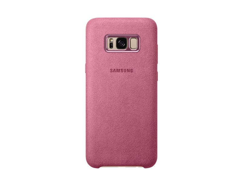 Capac protectie spate Alcantara Cover Samsung pentru Galaxy S8 Plus G955 Roz