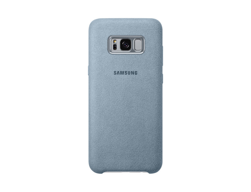 Capac protectie spate Alcantara Cover Samsung pentru Galaxy S8 Plus G955 Verde Menta