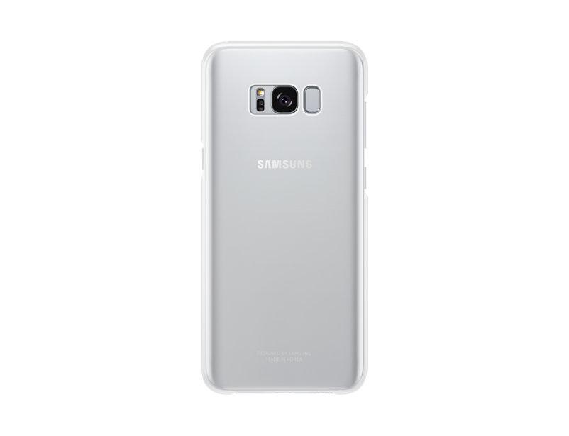 Capac protectie spate Clear Cover Samsung pentru Galaxy S8 Plus G955 Argintiu