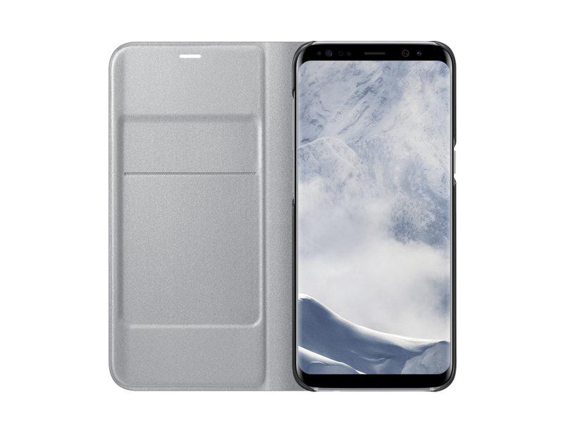 Husa LED Flip Wallet Samsung EF-NG950 pentru Samsung Galaxy S8 G950 Argintiu
