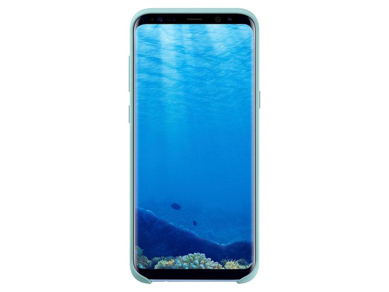 Capac protectie spate Silicone Cover Samsung EF-PG955 pentru Galaxy S8 Plus G955 Albastru