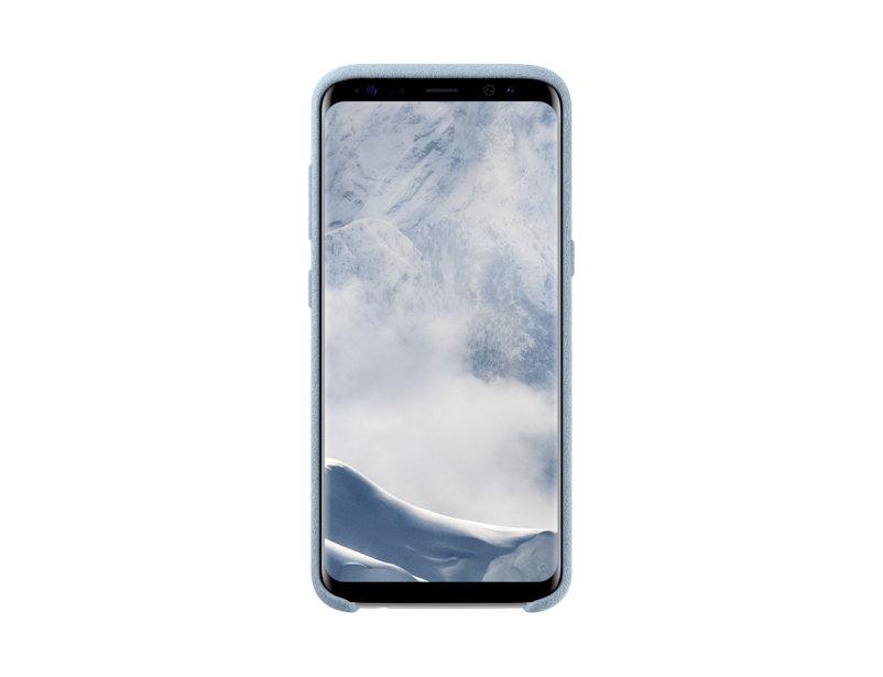 Capac protectie spate Alcantara Cover Samsung pentru Galaxy S8 G950 Verde Menta