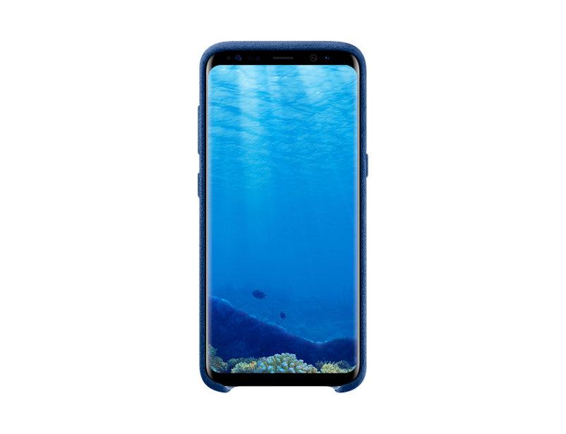 Capac protectie spate Alcantara Cover Samsung pentru Galaxy S8 G950 Albastru