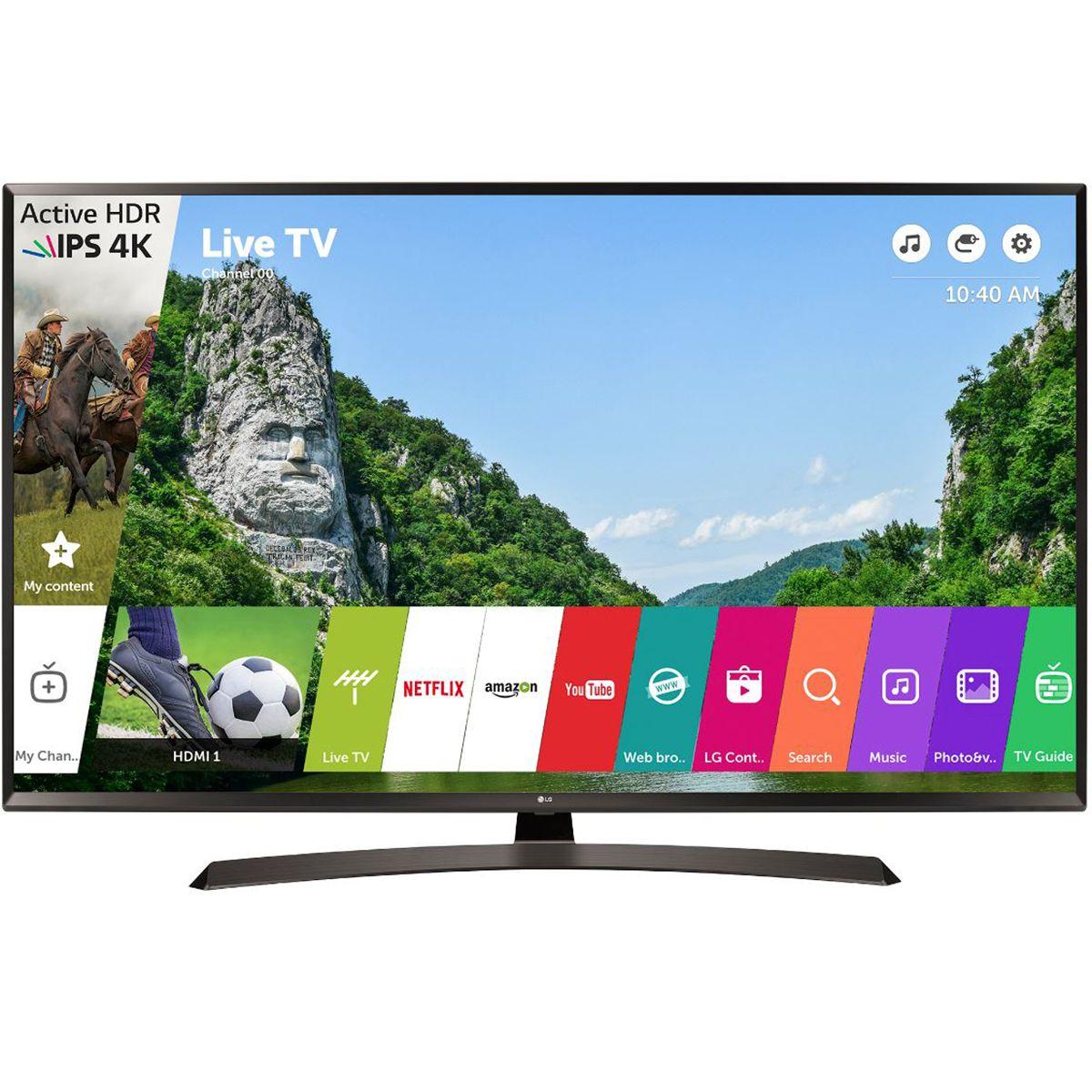 Televizor LED LG Smart TV 49UJ634V 123cm 4K Ultra HD Negru