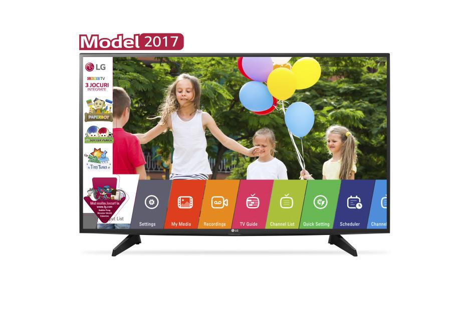 Televizor LED LG 43LJ515V 108cm Full HD Negru