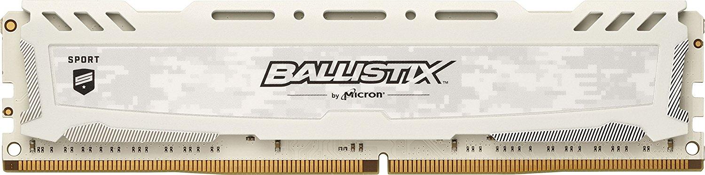 Memorie Desktop Crucial Ballistix Sport LT White 16GB (1 x 16GB) DDR4 2666 MHz CL16