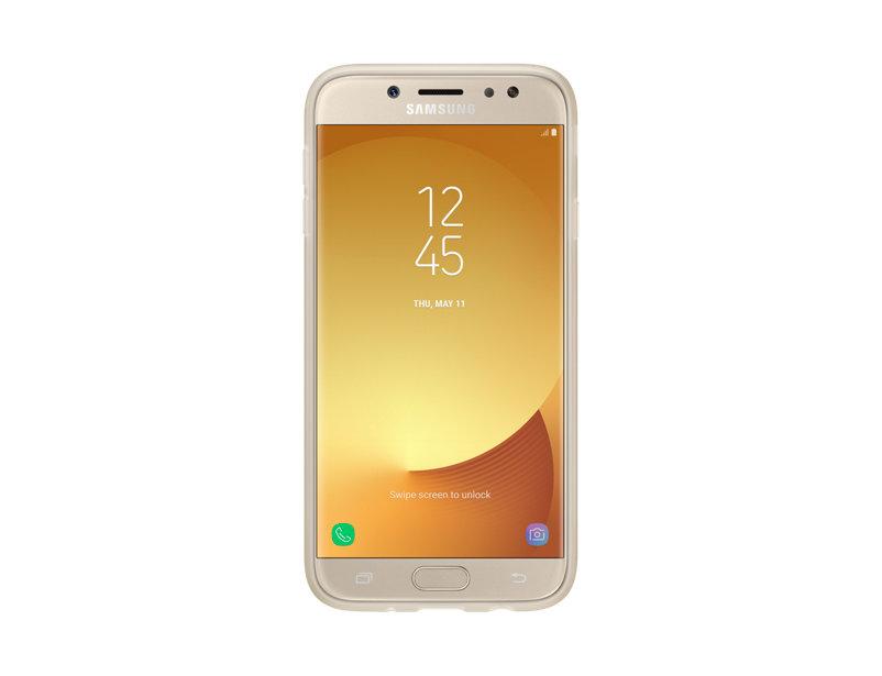 Husa de protectie Jelly Cover pentru Samsung Galaxy J7 2017 Gold