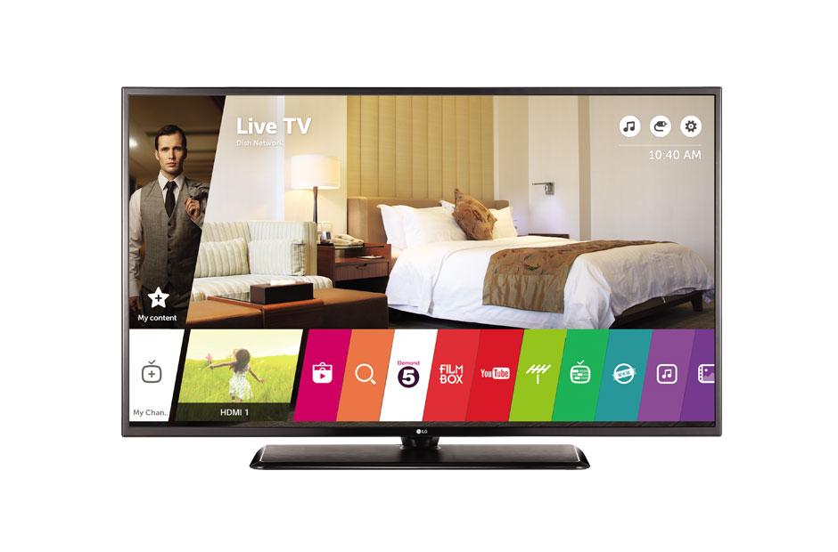 Televizor LED LG Smart TV 49UW761H 4K Ultra HD Mod TV Hotel Negru