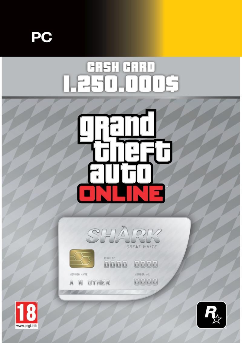 Grand Theft Auto V Great White Shark Card (Cod Social Club)