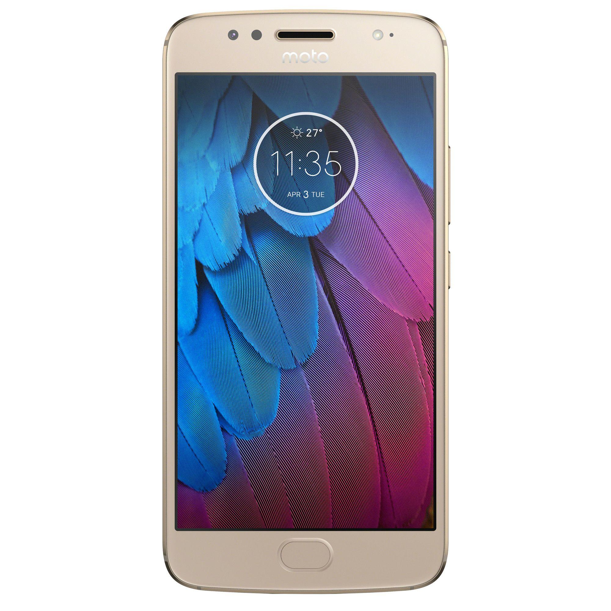 Telefon Mobil Motorola Moto G5S 32GB Flash 3GB RAM Dual SIM 4G Gold