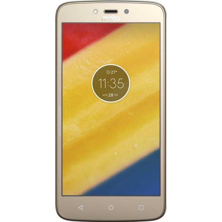 Telefon Mobil Motorola Moto C Plus 16GB Flash 1GB RAM Dual SIM 4G Gold