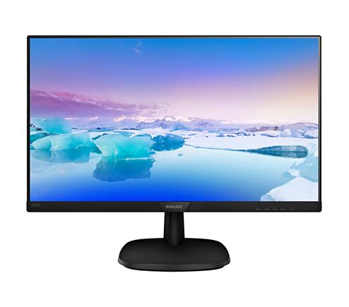 Monitor LED Philips 243V7QJABF 23.8 Full HD 5ms Negru