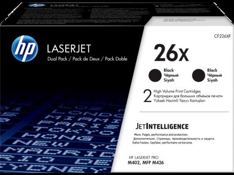 Pachet 2 cartuse HP 26X Black 2 x 9000 pagini