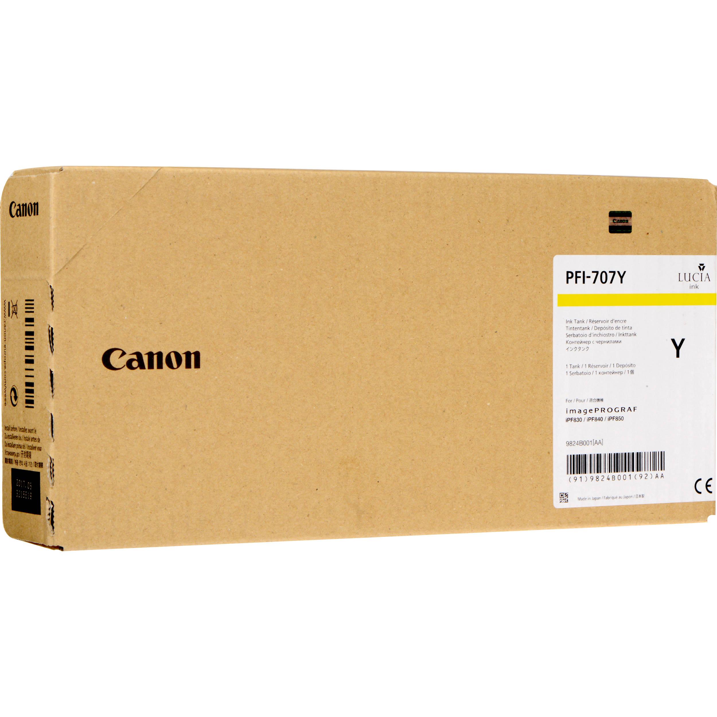 Cartus Inkjet Canon PFI-707Y Galben 700ml