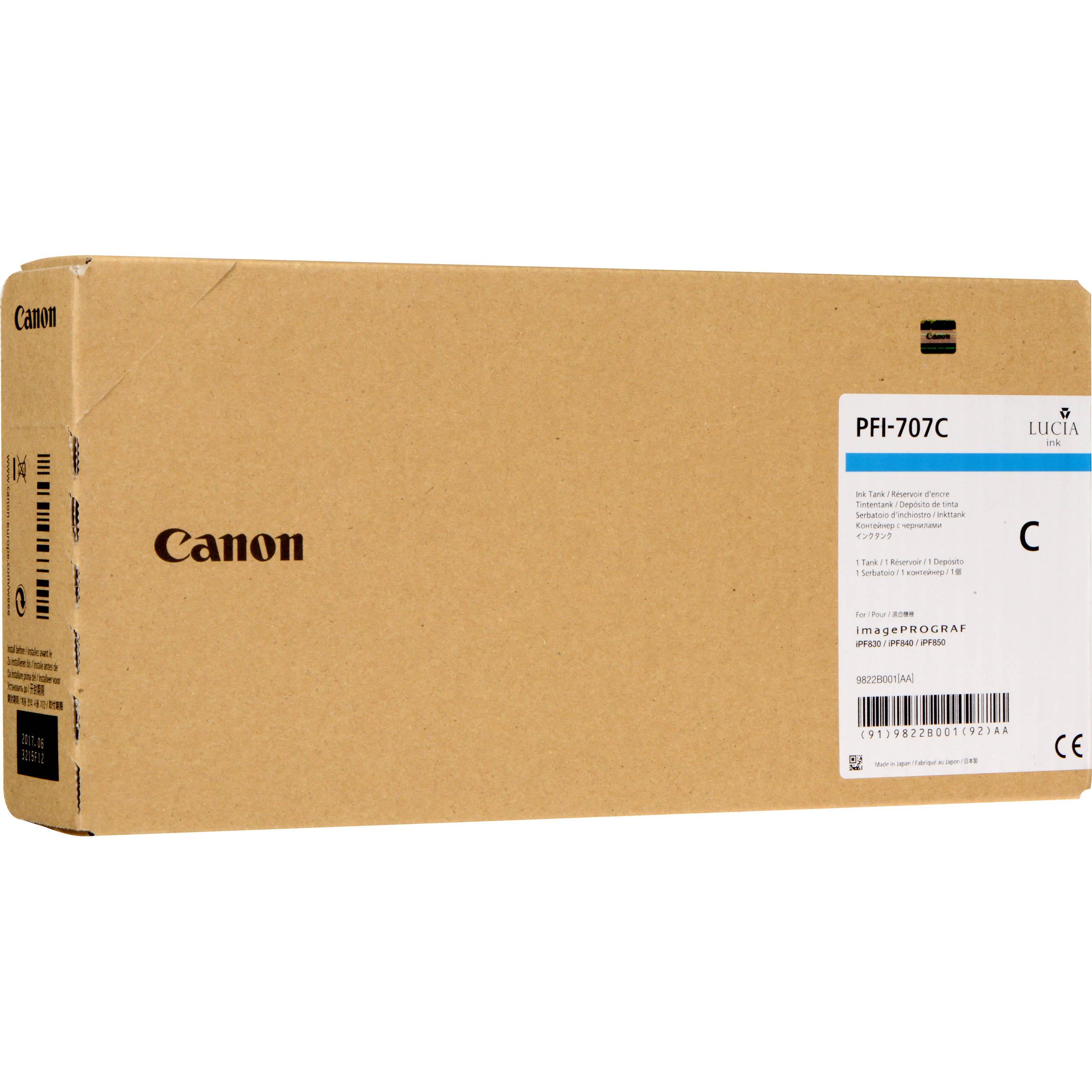 Cartus Inkjet Canon PFI-707C Cyan 700ml