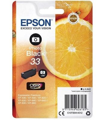 Cartus Inkjet Epson Photo Black 33 4.5ml