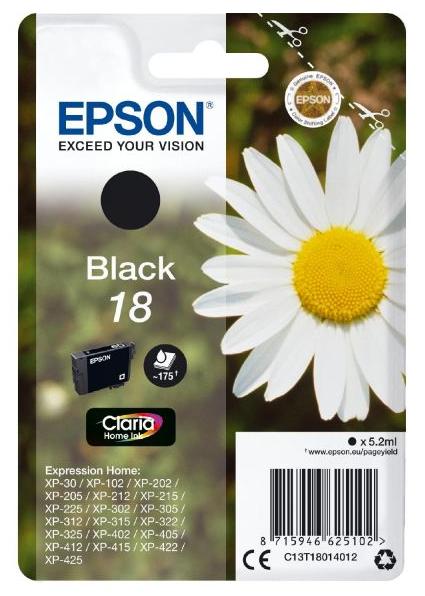 Cartus Inkjet Epson Black 18 5.2ml