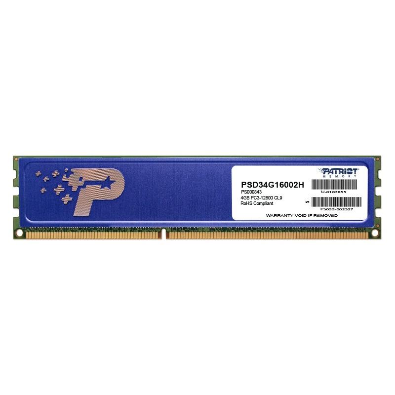 Memorie Desktop Patriot Signature 4GB DDR3 1600MHz Heatshield Double Sided