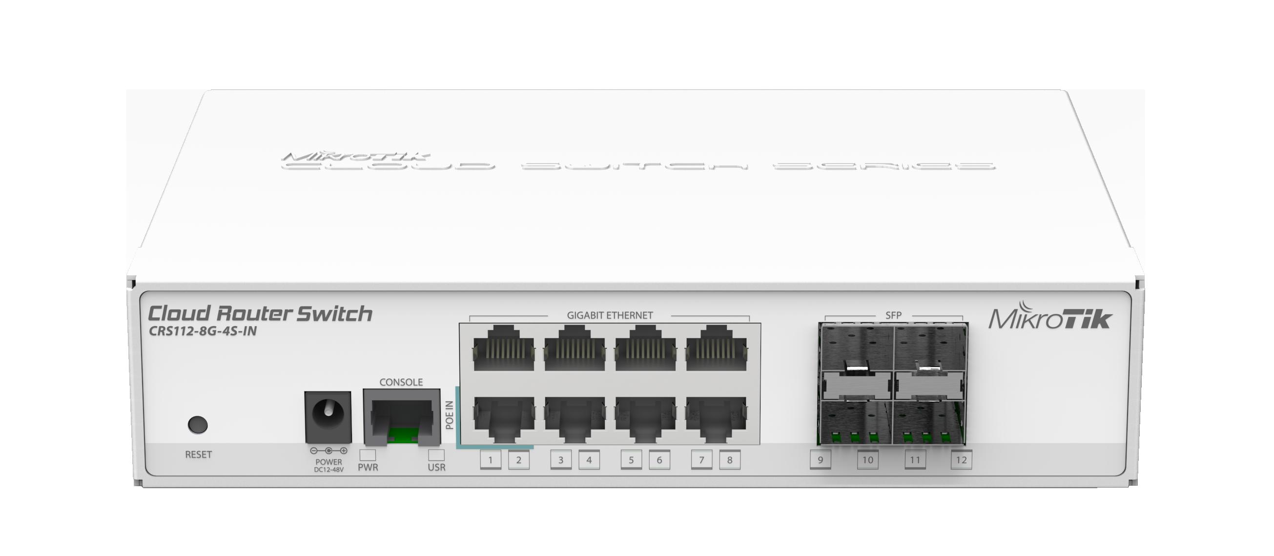 Switch Mikrotik CRS112-8G-4S-IN 4xSFP 8xLAN