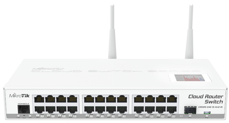 Switch Mikrotik CRS125-24G-1S-2HnD-IN 1xSFP 24xLAN
