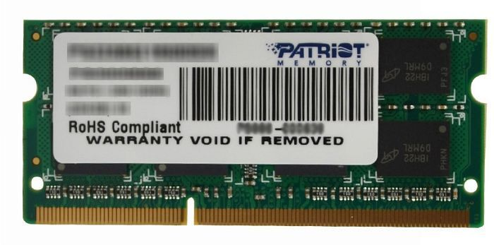 Memorie Notebook Patriot Signature 4GB DDR3 1600MHz 2 Rank Double Sided 1.5V