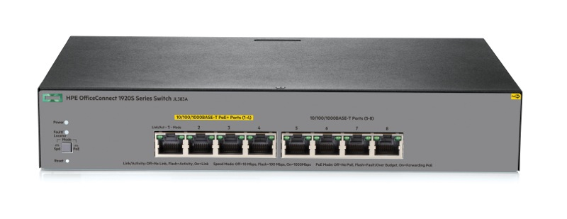 Switch HPE OfficeConnect 1920S 8G PPoE+ 65W Switch