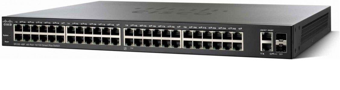 Switch Cisco SF350-10 cu management fara PoE 48x100Mbps-RJ45