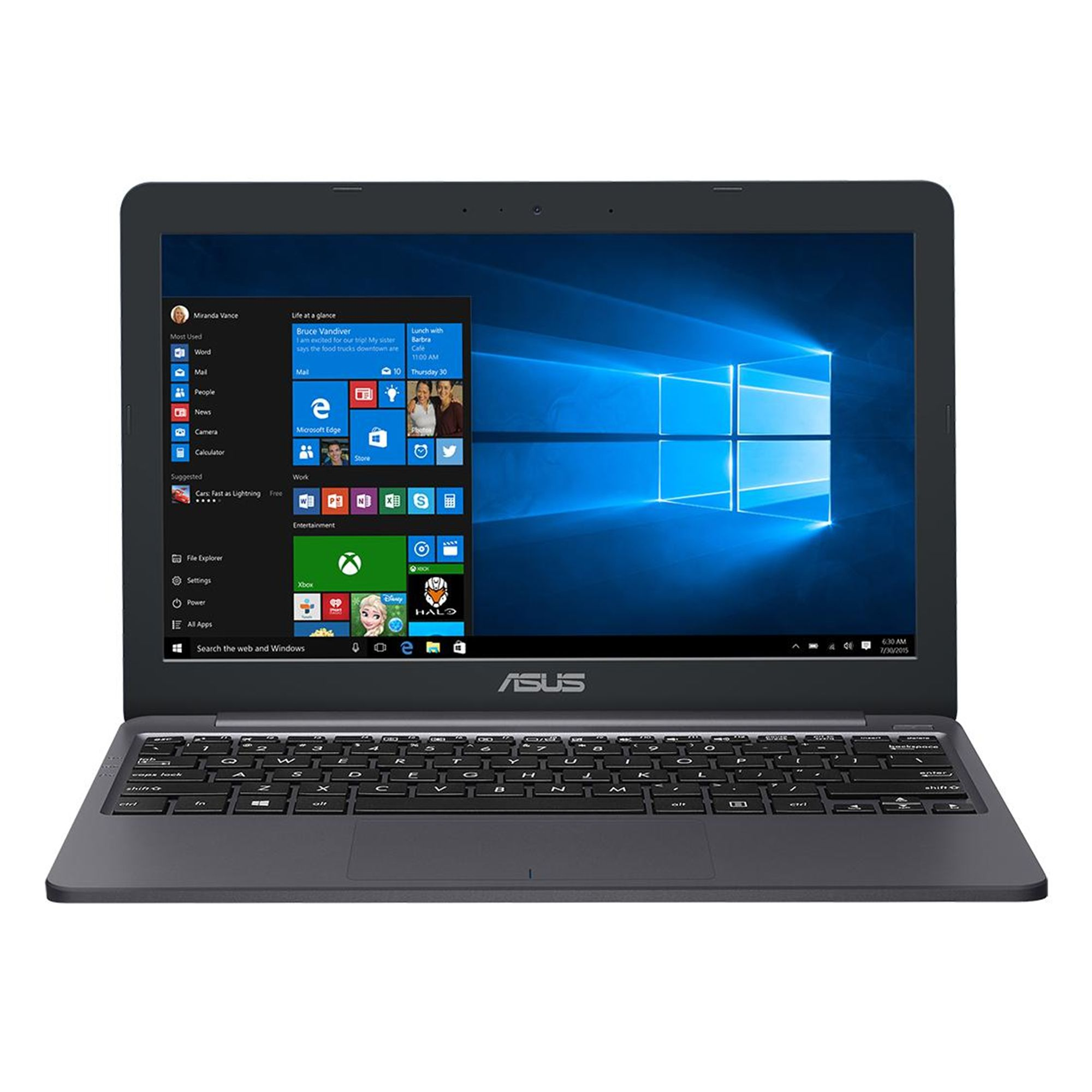 Ultrabook Asus VivoBook E203NA 11.6 HD Intel Celeron N3350 RAM 4GB eMMC 32GB Windows 10 Home Gri